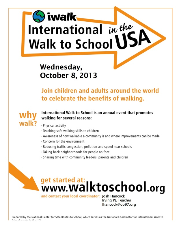 WALK TO SCHOOL IN THE USA!