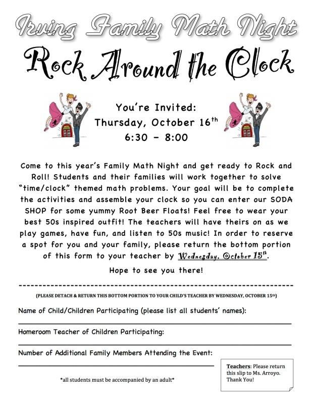 Rock Around the Clock Permission Slip