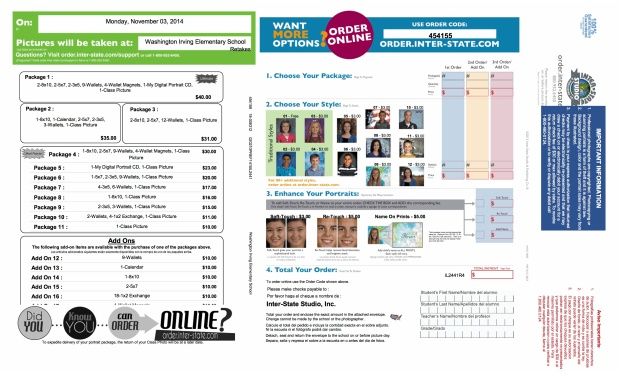 Picture Retake Order Forn 2014 2015