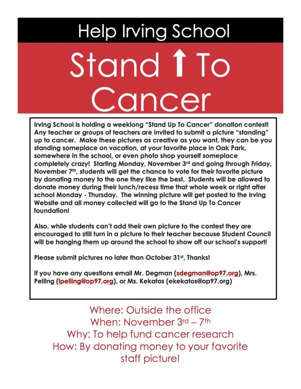 Stand up to cancer flyer
