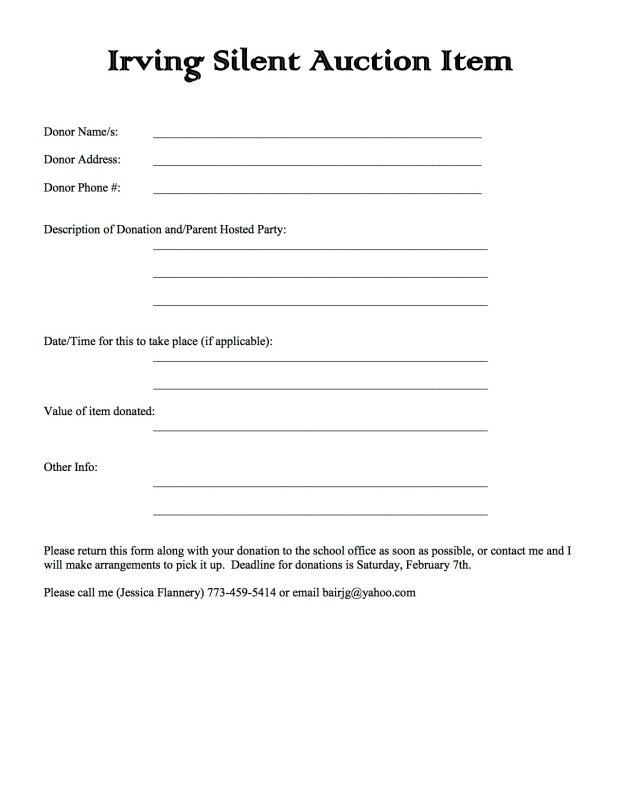 Silent Auction Parent Letter, Option 5, v4-2