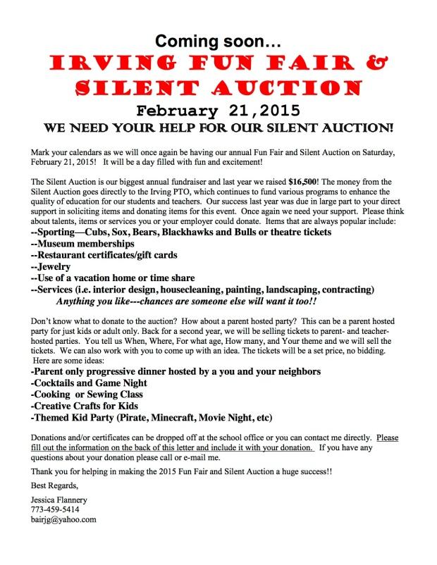 Silent Auction Parent Letter, Option 5, v4