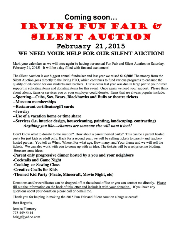 Silent Auction Parent Letter, Option 5, v4