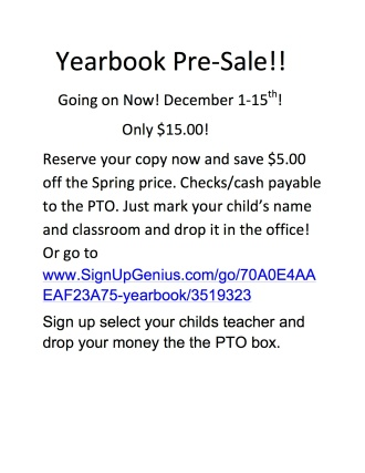 Yearbook Pre Sale
