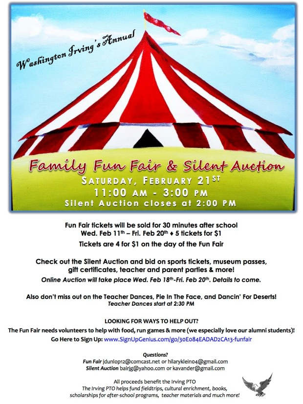 fun fair silent auction flyer notes 2 pages