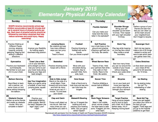 January NAPSE Activity Calendar_Elementary-2