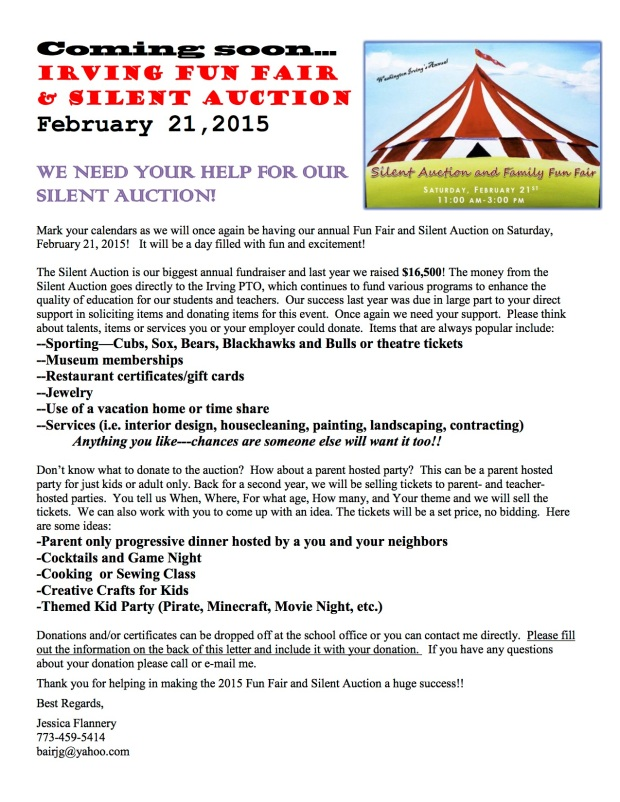 Silent Auction Parent Letter, Option 5, v5