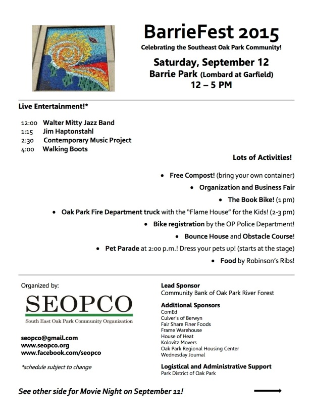 Barrie Fest and Movie Night Flyer - 2 sided - 2015 - SEOPCO