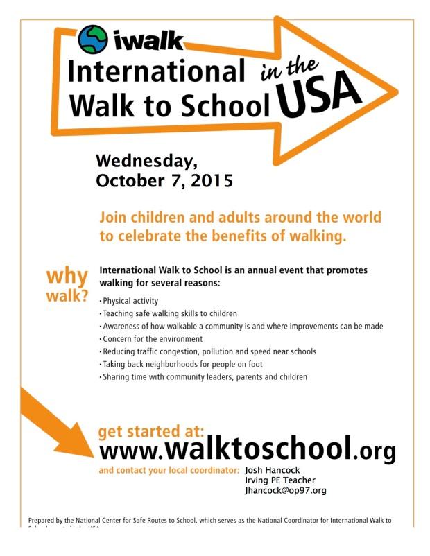 walk to school flyer