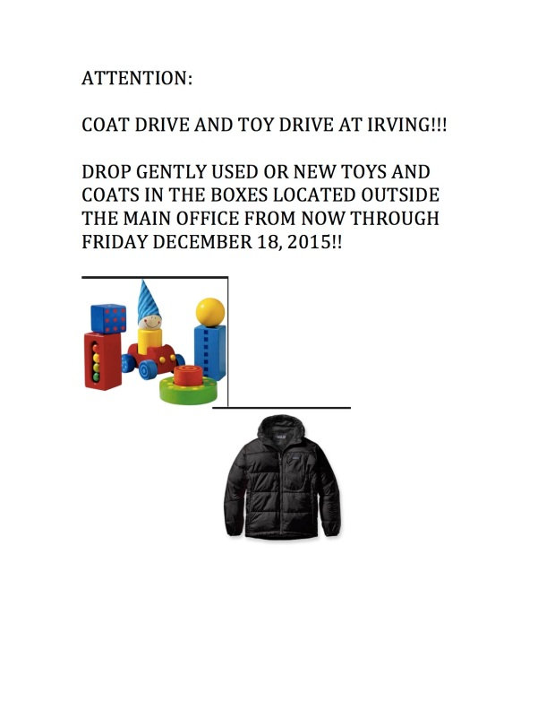Irving Coat & Toy Drive