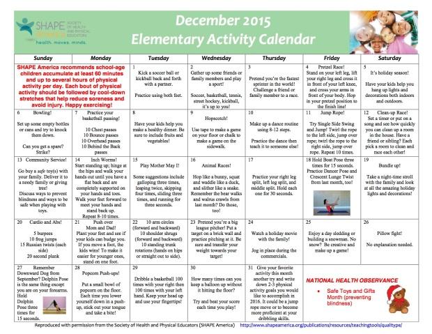 December 2015 Elementary English