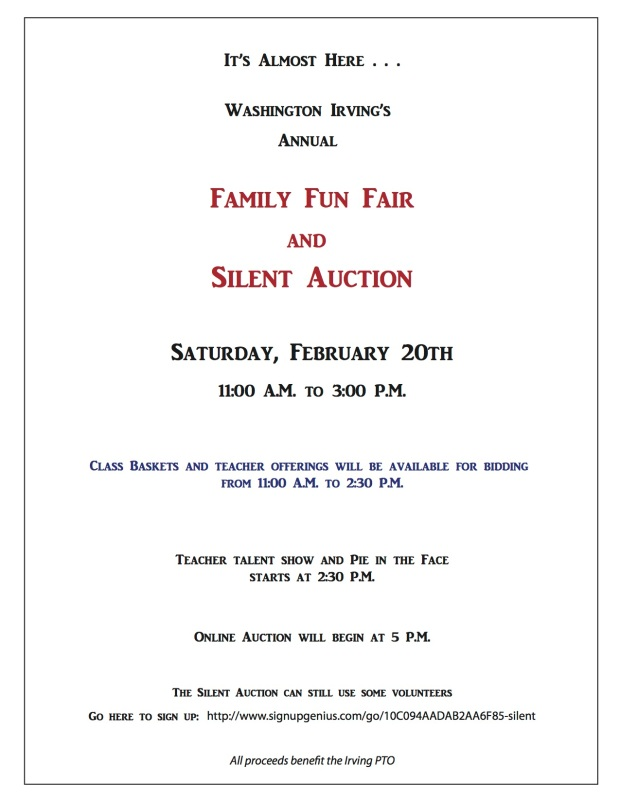 Silent Auction flyer for website